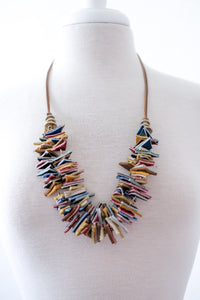 Stacked Craft Leather Necklace