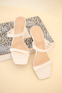 Yanti Soft Strapped White Heels