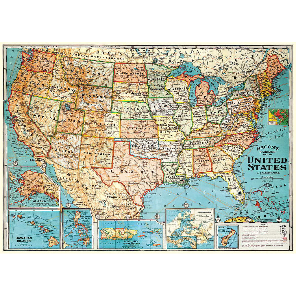 United States Map Poster Wall Hanging Michigan Studio