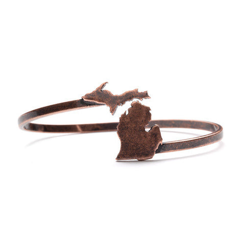 Michigan Bangle Bracelet - Antique Copper
