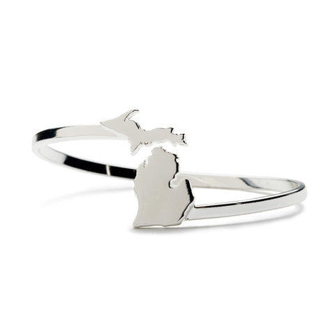 Michigan Bangle Bracelet - Silver