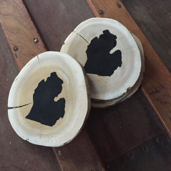 Michigan Wood Cedar Coasters