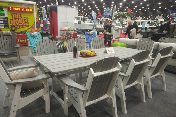 Farmhouse Style Poly Outdoor Dining Set