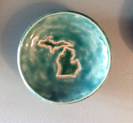 Michigan Jewelry Dish