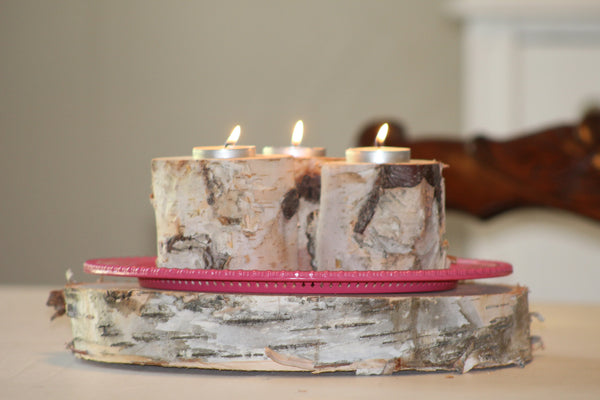 White Birch Candle & Tea Light Holders