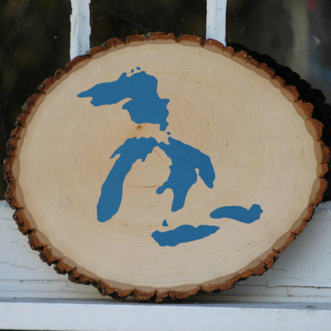 Great Lakes Wood Painting