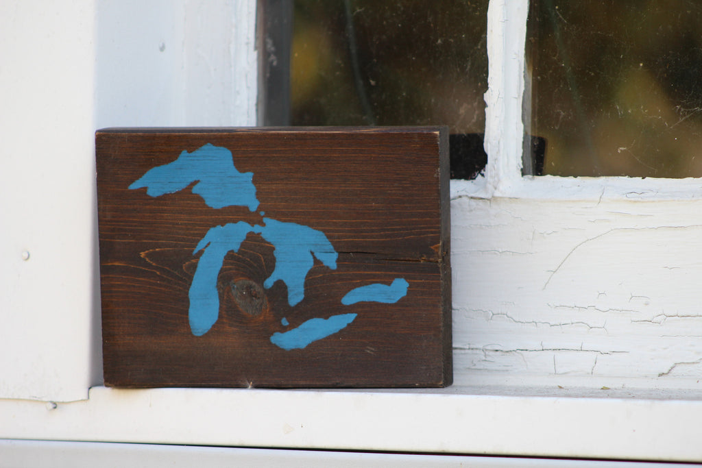 Great Lakes Sign - Blue