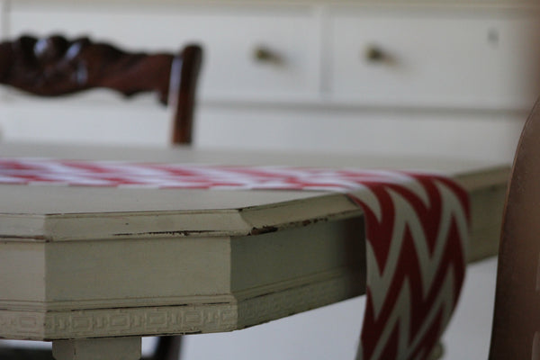 Chevron Table Runner - Red and White