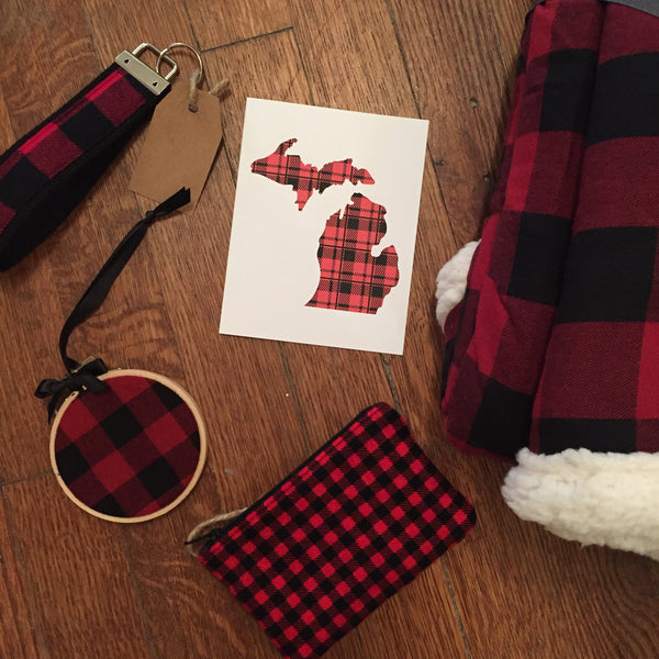 Buffalo Plaid Key Chain