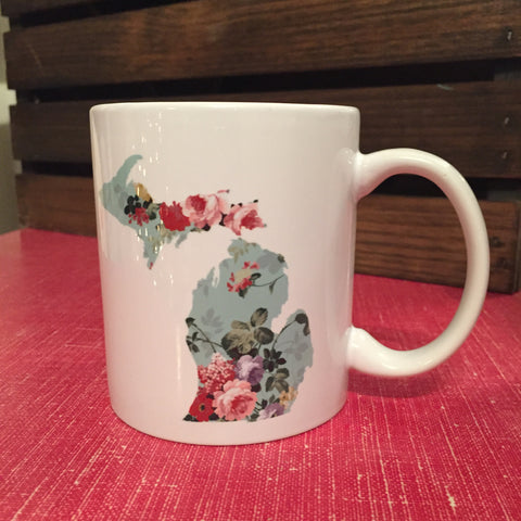 Michigan Mug - Vintage Floral