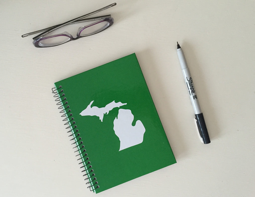 Michigan Notebook - Green & White