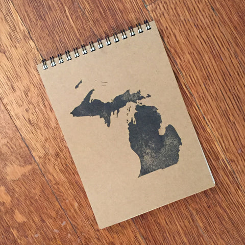 Michigan Stamped Notebook/Journal