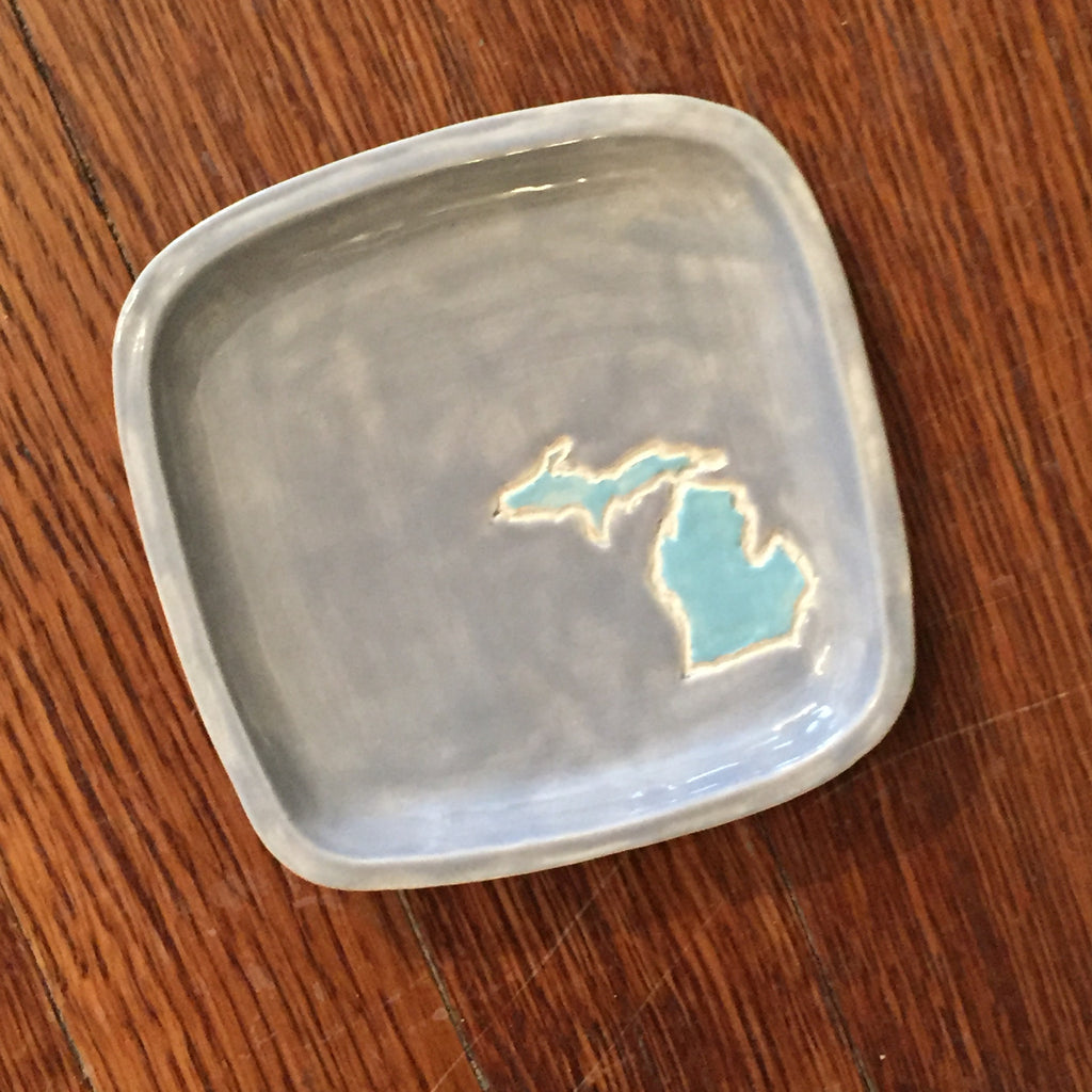 Michigan Jewelry Dish - Square