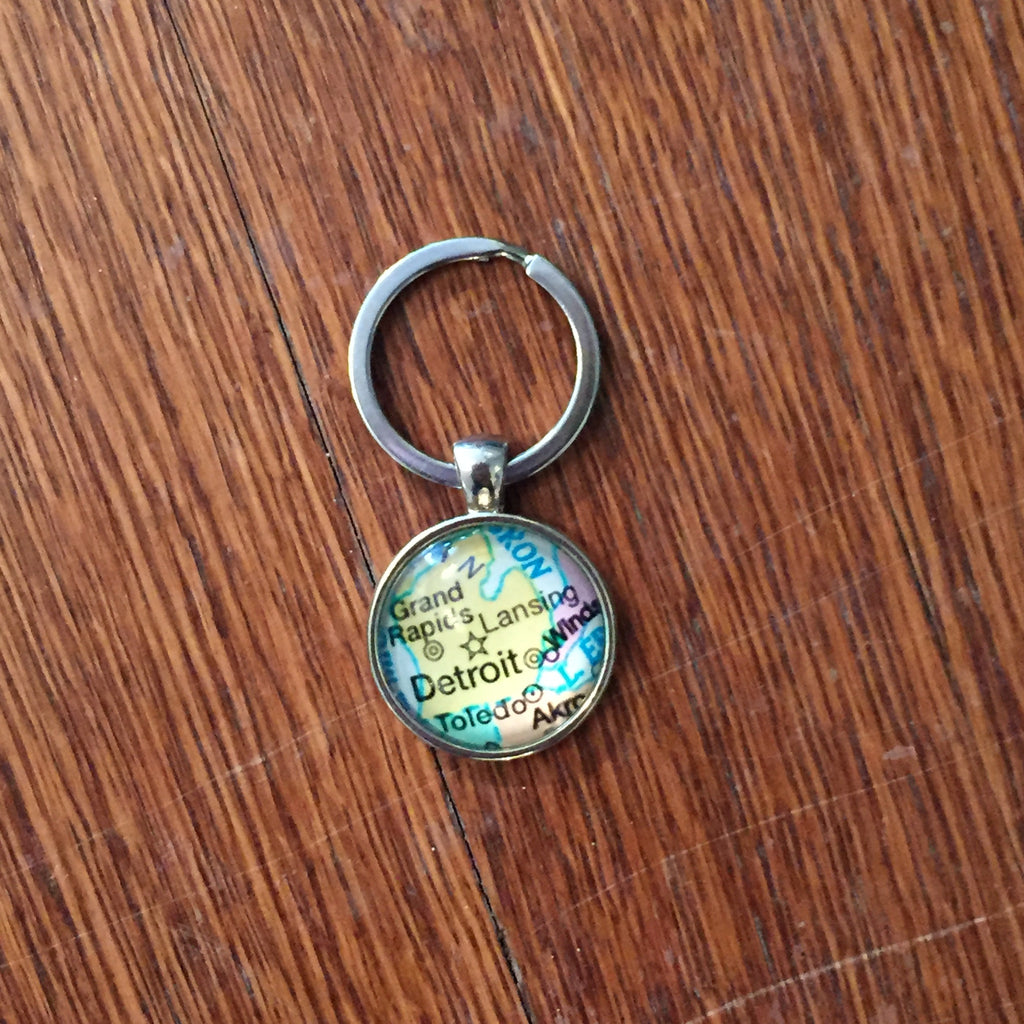 Michigan Map Keychain