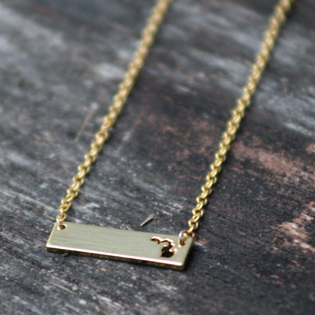 Michigan Necklace - Small Bar