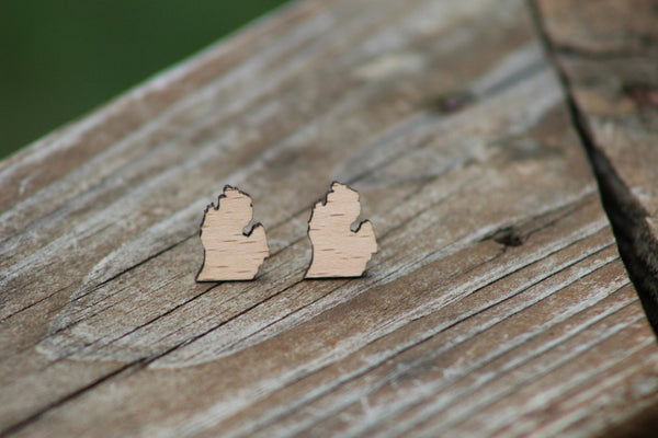 Michigan Wood Earrings