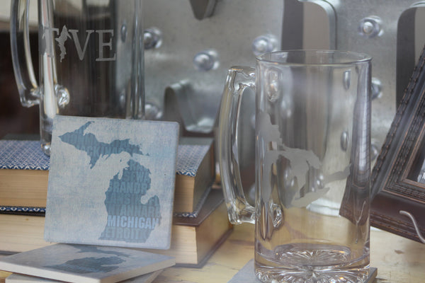 Michigan Glass Beer Mug