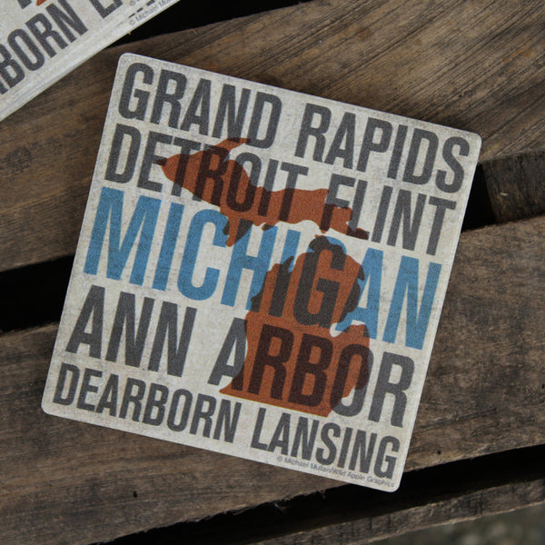 Cities of Michigan Coasters