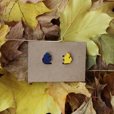 Michigan Wood Earrings - U of M