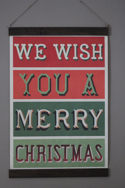 We Wish You a Merry Christmas Hanging Poster