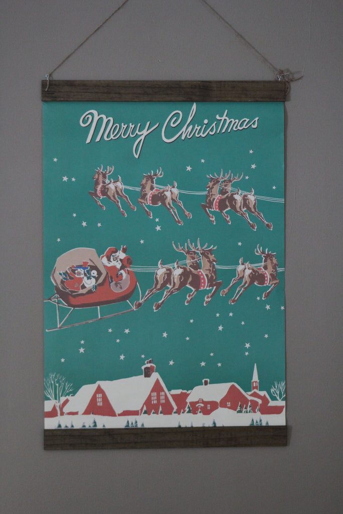 Merry Christmas Large Hanging Print