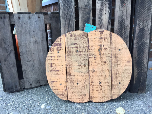 Wood Pumpkin Sign