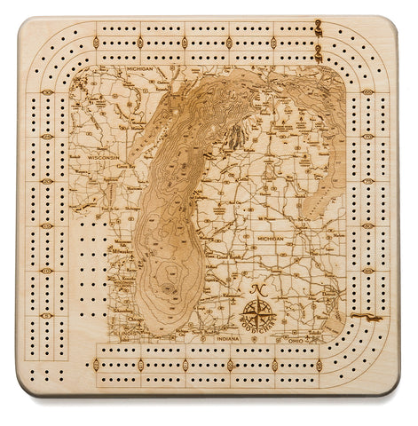 Lake Michigan Cribbage Board