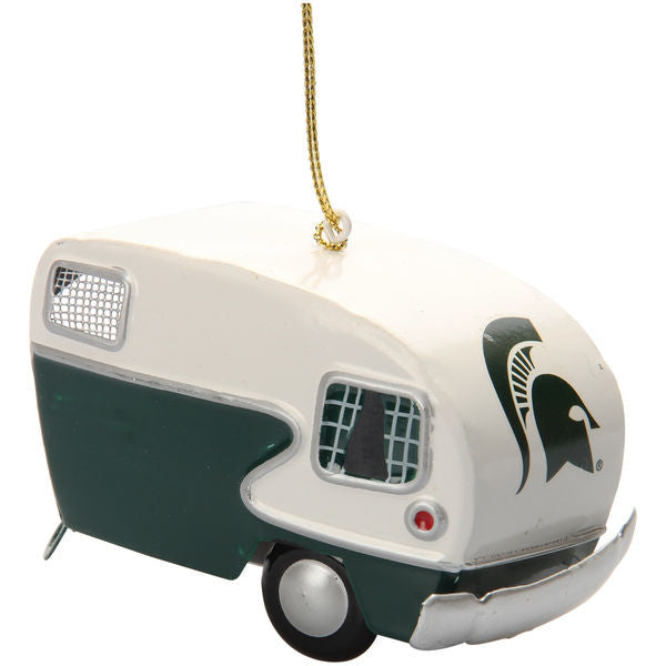 Michigan State MSU Spartans Vintage Camper Ornament