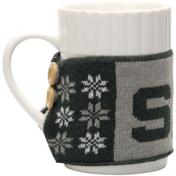 Michigan State MSU Spartans Sweater Mug Set