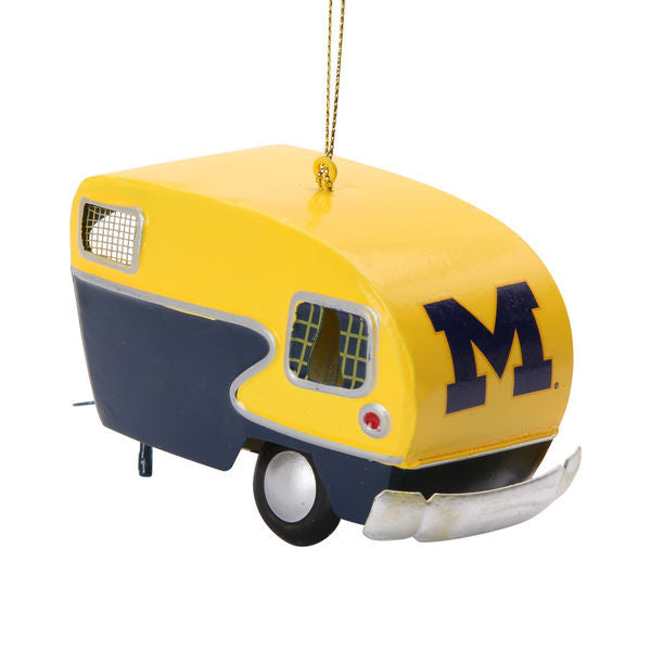 Michigan Wolverines Vintage Camper Ornament