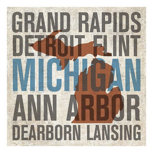Michigan Cities Canvas Wall Art
