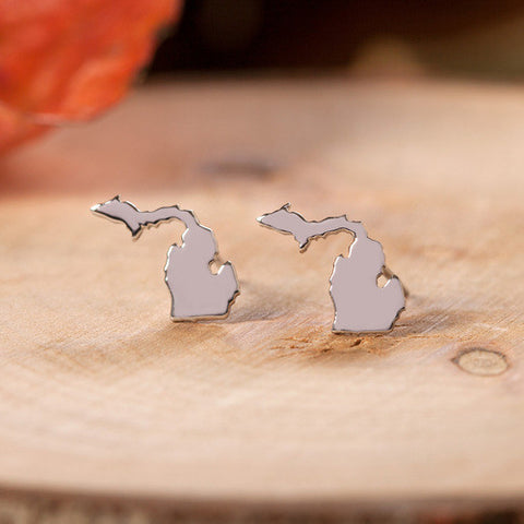 Michigan Stainless Steel Earrings