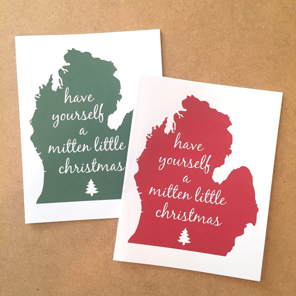 Michigan Mitten Little Christmas Card