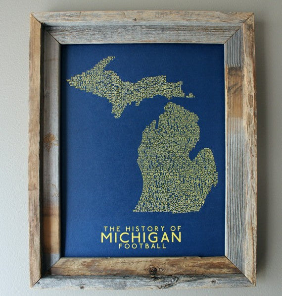 History of Michigan Football Print