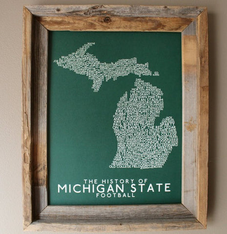 History of Michigan State Football Print