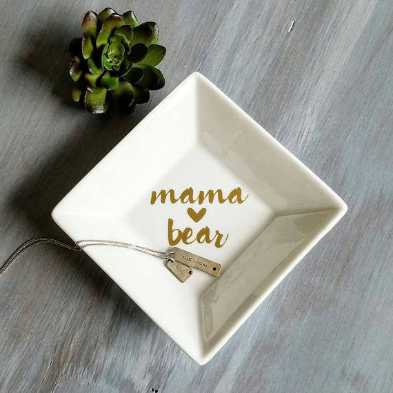 Mama Bear Jewelry Dish