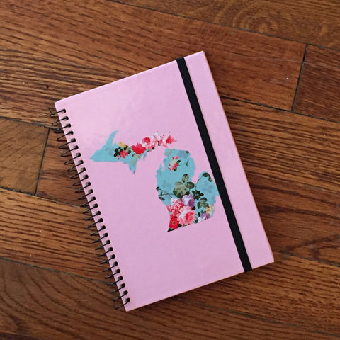 Michigan Notebook - Vintage Pink