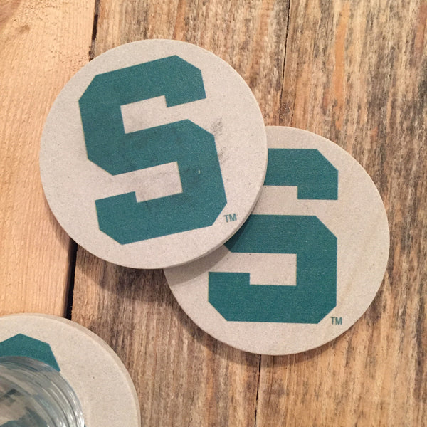 "Michigan State Coasters - Spartan ""S"""
