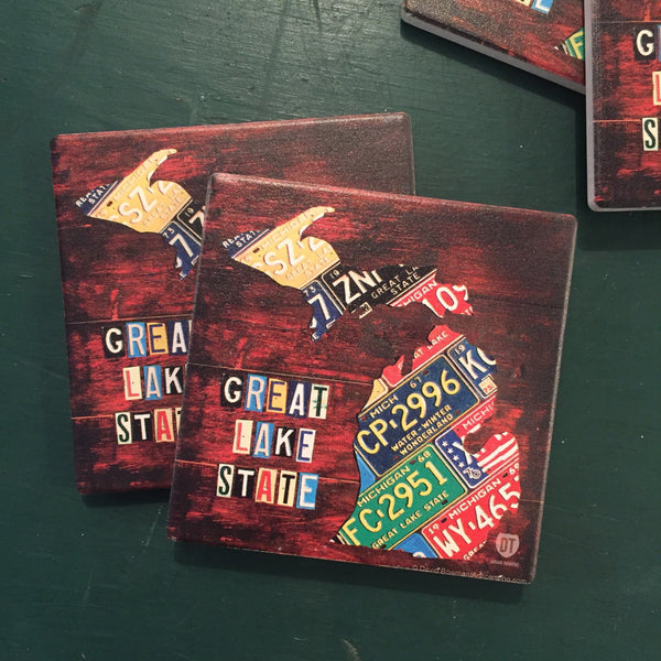 Great Lake State Michigan Coasters