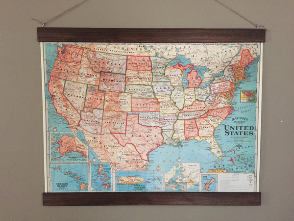 United States Map Poster Wall Hanging