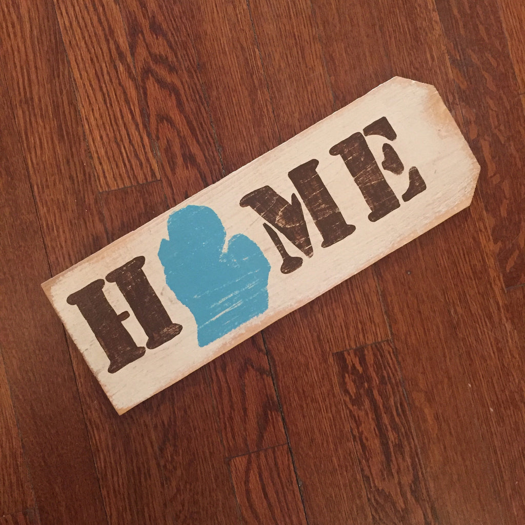 HOME Reclaimed Wood Sign