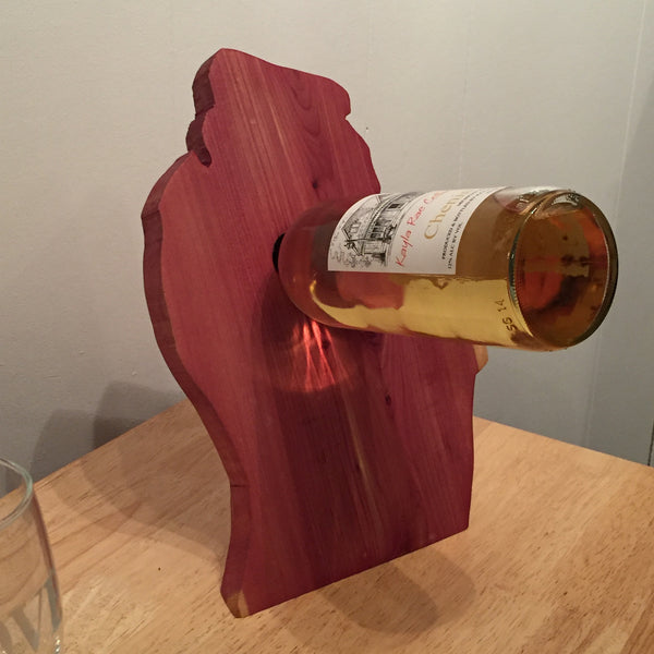 Michigan Floating Wine Rack