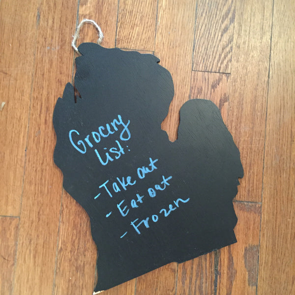 Michigan Chalkboard Sign
