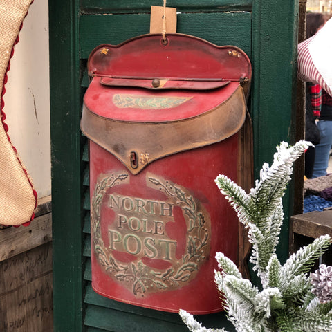 North Pole Post Mailbox