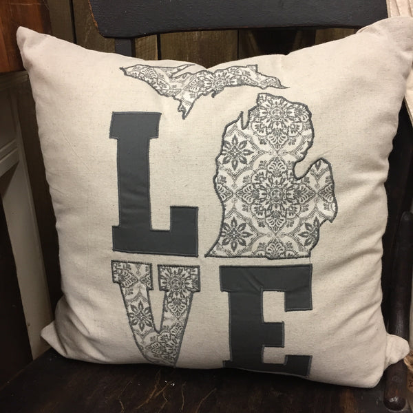 Michigan Pillow - Love