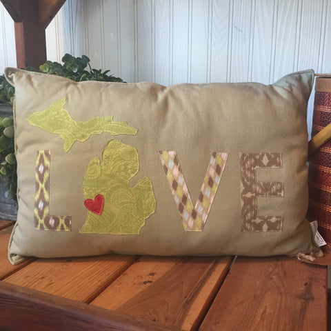 LOVE Michigan Pillow