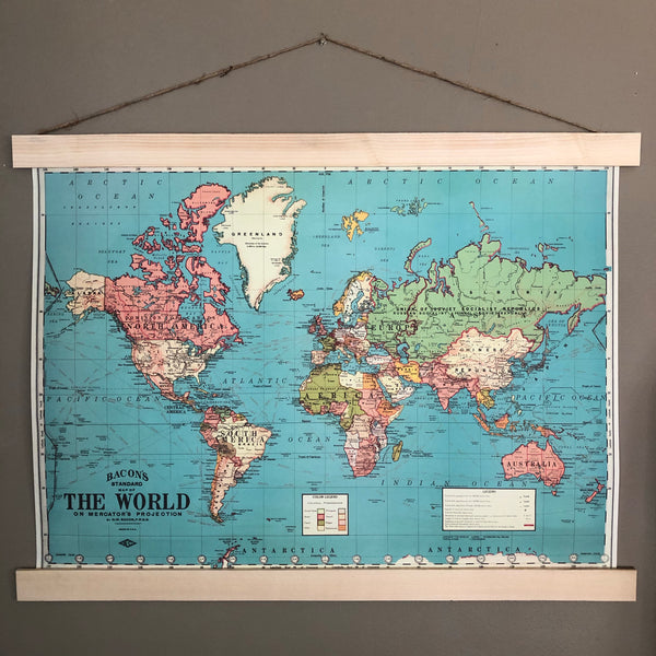 World Map Poster Wall Hanging