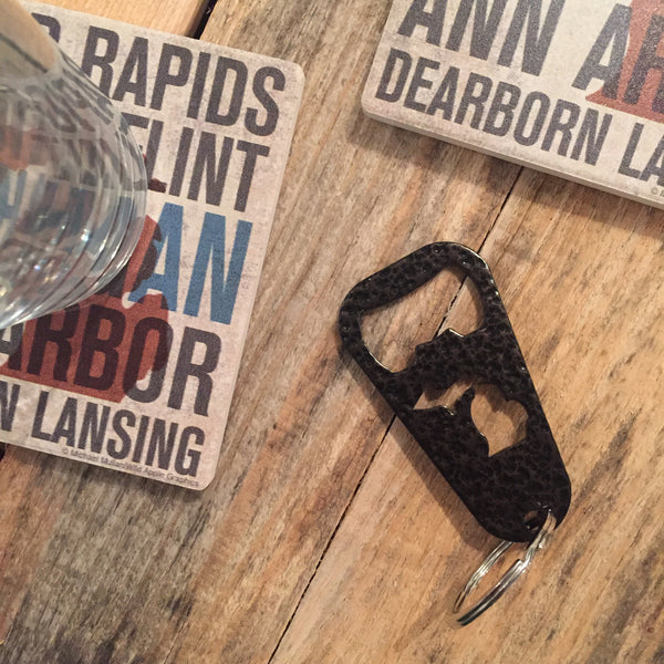Michigan Key Chain Bottle Opener - Copper Vein