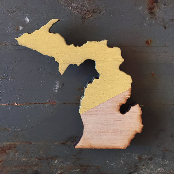 Hand Painted Michigan Magnet