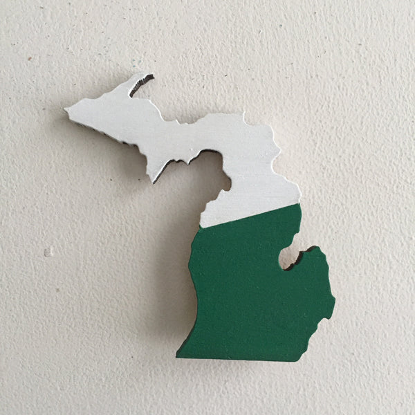 Michigan Ornament - Green and White